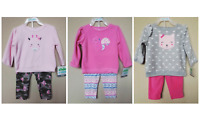 *NWT- CARTER'S - BABY GIRL'S 2-PC FLEECE OUTFIT SET - SIZE: 0-3M - 18M