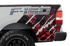 Ford F150 Rear Quarter Panel Graphic Kit Truck Bed Decal Set 2004-2008 RED SKULL