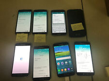 Lot of 8 Samsung Galaxy S5 SM-G900A Charcoal Black (AT&T) SEE INFO Free Ship