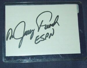 Nascar ESPN Dr. Jerry Punch Hand Signed Index Card