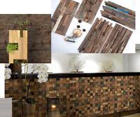 Wandpaneele 3D Wandverkleidung Theke Holz Natur Holzwand Holzpaneele Holzfliese