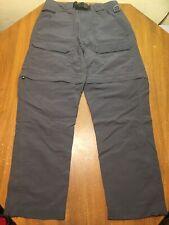 The North Face Mens Small Convertible Shorts Pants Gray Zip Off Pockets