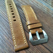 Leather strap in 20mm - Light Brown in 20/20mm compatible with Panerai watch