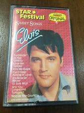 ELVIS PRESLEY SWEET SONGS STAR FESTIVAL MC K7 CASSETTE TAPE CINTA SPANISH EDIT