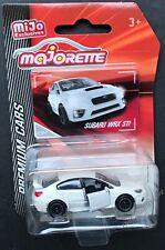 Majorette Premium Cars Subaru WRX STI 1:64 White Diecast Car