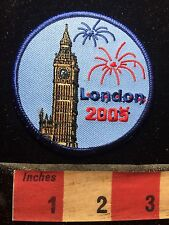 LONDON England Big Ben Clock Tower Patch UK / United Kingdom Fireworks C75D