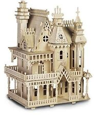FANTASY VILLA Woodcraft Construction Kit - 3D Wooden Model Puzzle KIDS/ADULTS
