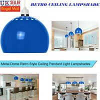 NEW STYLE RETRO CEILING LIGHT MODERN DOME PENDANT LAMPSHADE EAST FIT BEDROOM UK