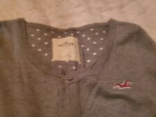 Hollister Cardigan Sweater Size Large Gray