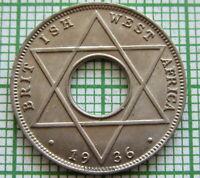BRITISH WEST AFRICA EDWARD VIII 1936 1/10 PENNY, UNC