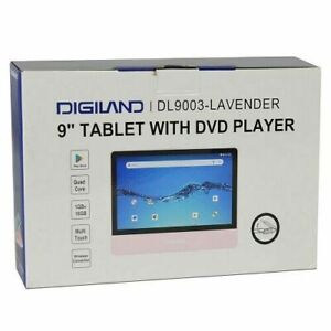 Digiland DL9003: 2-in-1 Android Tablet, DVD Player Quad-Core 1.3GHz 1GB 16GB Lav