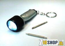 Raccomandata P. - Mini Torcia Led Portachiavi Giraviti; Led Light Keychain & Scr