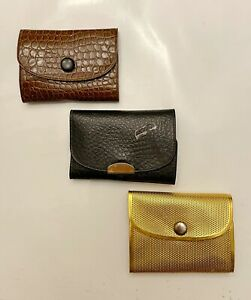 Trio of Gillette Mini Travel Razors in Snap Plastic cases.