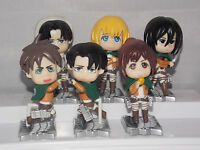 Attack on Titan Japanese Anime Figures BOXED CHN 6-7cm
