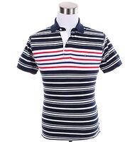 Tommy Hilfiger Men Short Sleeve Stripe Classic Fit Pique Polo Shirt - Free Ship