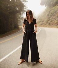 Christy Dawn 🌸Dawn Jumper- Sold Out- Black Linen Jumpsuit- Small