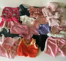 16 Pc Lot Build-A-Bear Bab and Other Clothes Outfits Shirts Shorts Dresses Robe