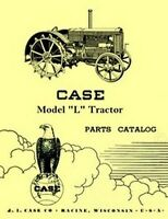 Case Model L Tractor Repair Parts List Catalog Manual