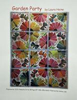 Garden Party Applique Pattern 66'' x 87 1/2 '' by Laura Heine Quilting