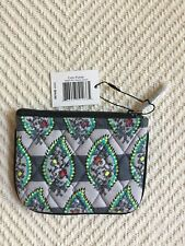 Vera Bradley Coin Purse Paisley Stripes NWT Zip Top MSRP $14 Grads Great Gift