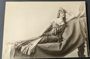 """1890s Madame Olive Fremstad Opera in """"Parsifal"""" Cabinet Card Mounted Photo #3 BB"""