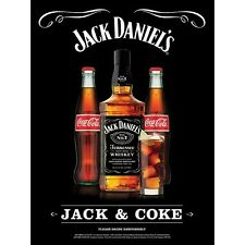 Jack Daniels And Coke Poster 18 By 27 New