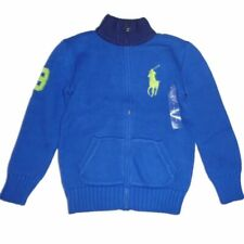 Ralph Lauren Kinder Jungen Strickjacke Blau mit big Polo Reiter Pony Boy 122
