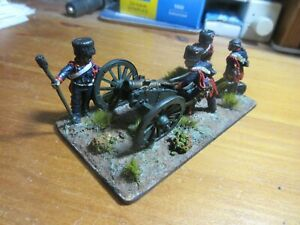 NICELY PAINTED 28MM, PERRY, FRENCH GUARD HORSE ARTILLERY HOWITZER, EXCELLENT