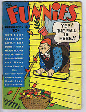 Funnies 13 (G+) 1937 Dell Comics Platinum Age Alley Oop Mutt & Jeff (c#24732)