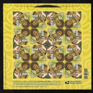 US 4880- Jimi Hendrix Music Icon Sheet of 16 Mint SA VF