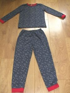 The little white company Boys Age 9-10  Years Pyjamas blue with Moon and Stars