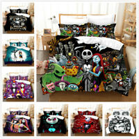 3D The Nightmare Before Christmas Jack Duvet Cover Pillowcase Without Comforter