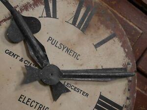 Vintage Antique Gents Of Leicester Station Clock Face Restoration Industrial