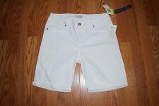 NWT Womens Seven 7 White Bermuda Denim Shorts Size 4 $59