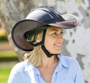 """HELMET  """"BRIM SHADE ONLY """"  FOR  HORSE RIDING  """"NEW """"  BLACK WITH  BLACK TRIM"""
