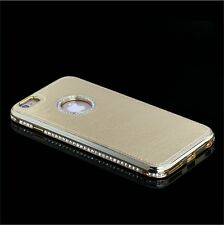 Leather diamond metal bumper phone case for iPhone 5 5S 6 6+,SAMSUNG NOTE3 S4 S5