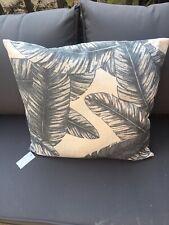 Brissi Grey Natural Leaf Leaves Orangery Cushion BNWT