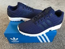 ADIDAS ZX Flux Woven Mens Trainers, Deep Blue - Size 6.5
