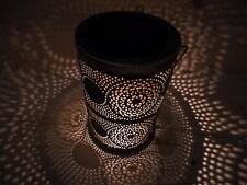 Silhouette Metal Solar LED Lantern Hurricane Lamp Light Candle Table Decoration