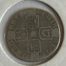 Antique Queen Anne Silver Sixpence 6 Pence 1711 Coin