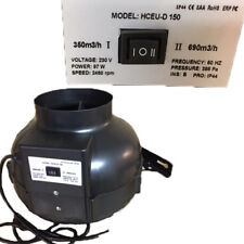 Rohrventilator Rohrlüfter 2 Stufen 97W 150 mm 350 / 690 m³/h
