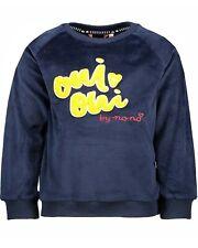 Nono Girls Velour Sweatshirt in Navy with 3D Applique, Sizes 4-14