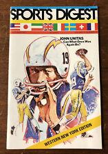 VERY RARE 1973 Sports Digest WNY Edition John Unitas Chargers Buffalo Braves