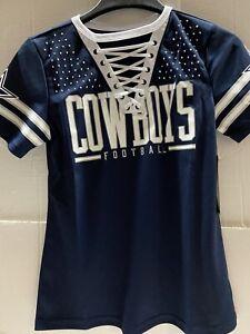Dallas Cowboys NFL Women's Giselle Fashion Jersey Navy Size Small FREE SHIP