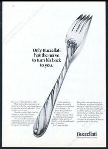 1976 Buccellati sterling silver silverware fork photo vintage print ad