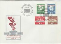 Switzerland 1962 UN Museum Palace of Nations ONU Slogan FDC Stamps Cover Rf25423