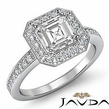 Asscher Diamond Engagement Antique Style Ring EGL E Color SI1 14k White Gold 2ct