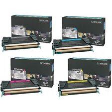 Genuine Lexmark C734 Toner Set C734A1KG, C734A1CG, C734A1MG, C734A1YG Sealed