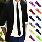 Casual Slim Plain Men's Solid Skinny Neck Party wedding Tie  Necktie