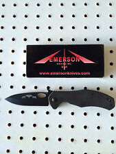 Emerson Cqc-10 Bt w/Wave - Black Plain Edge- Authorized Dealer